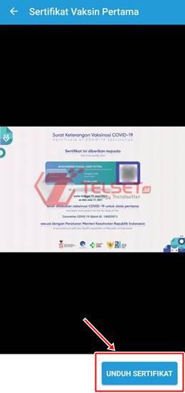 Cara download sertifikat vaksin Covid-19 di Peduli Lindungi