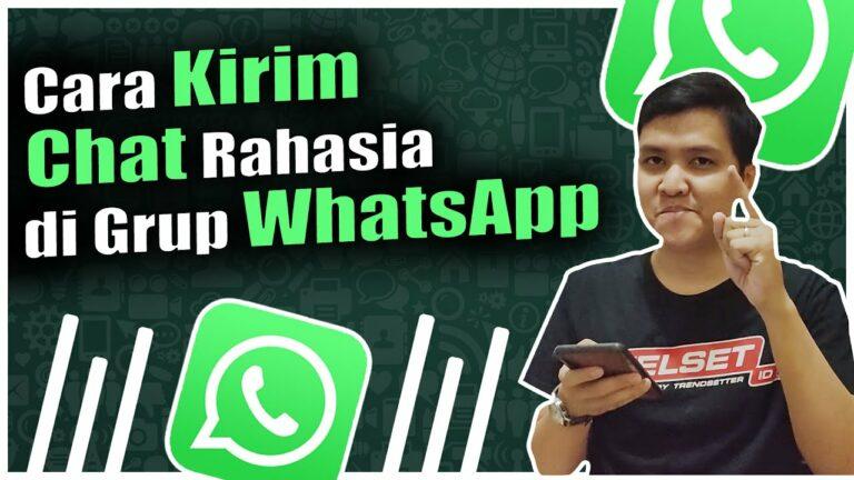 Tips WhatsApp: Cara Kirim Chat Rahasia di Grup WhatsApp