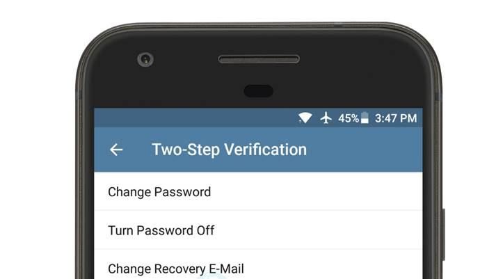 two step verification telegram