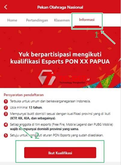 Cara daftar peserta PUBG Mobile PON XX