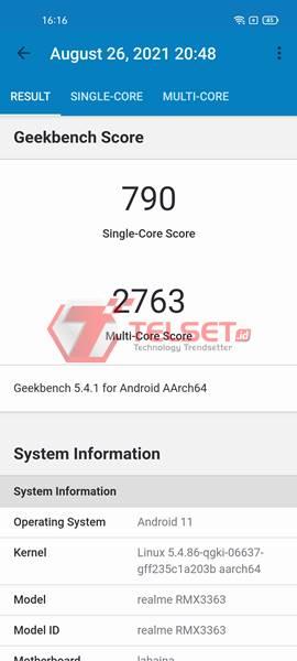 Geekbench Realme GT Master Edition