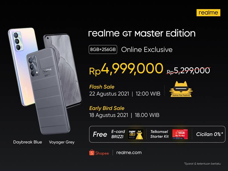 Price of Realme GT Master Edition Indonesia
