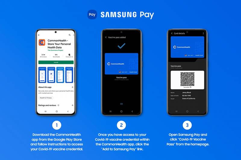 Samsung Pay Sertifikat vaksin Covid-19
