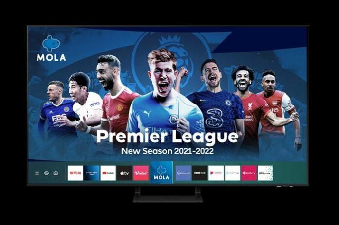 Streaming liga inggris mola gratis Samsung TV