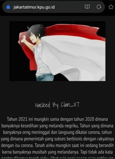 Situs KPU Jakarta Timur Diretas