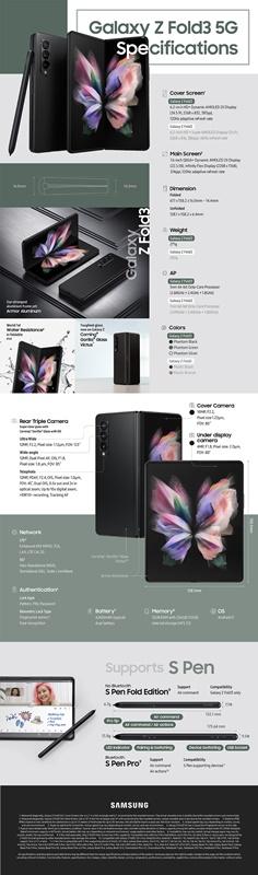Spesifikasi Lengkap Samsung Galaxy Z Fold3
