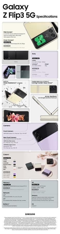Spesifikasi Samsung Galaxy Z Flip3 Indonesia