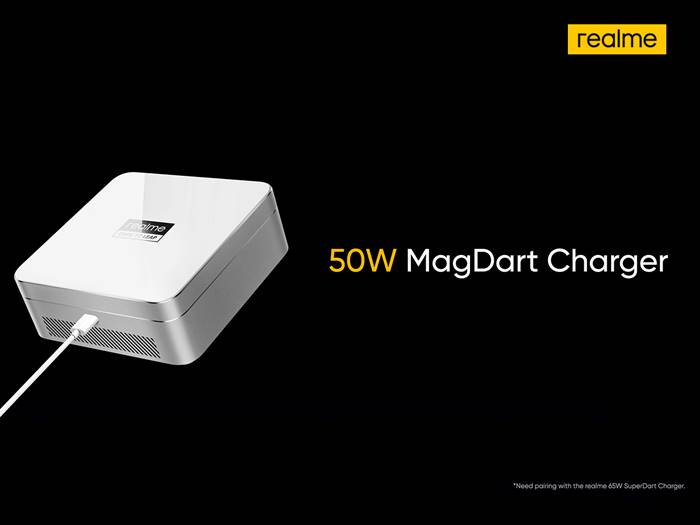 Wussh! Realme MagDart Punya Kemampuan Fast Charging 50W