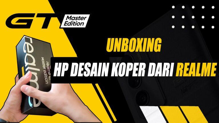 Unboxing Realme GT Master Edition Indonesia, Desainnya Cakep!