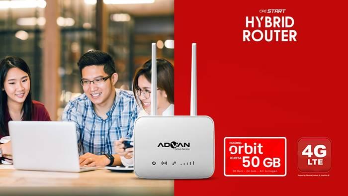 Harga Bundling Advan CPE Hybrid Router dengan Telkomsel Orbit 50GB