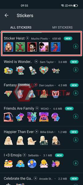 Download Stiker Money Heist WhatsApp Gratis