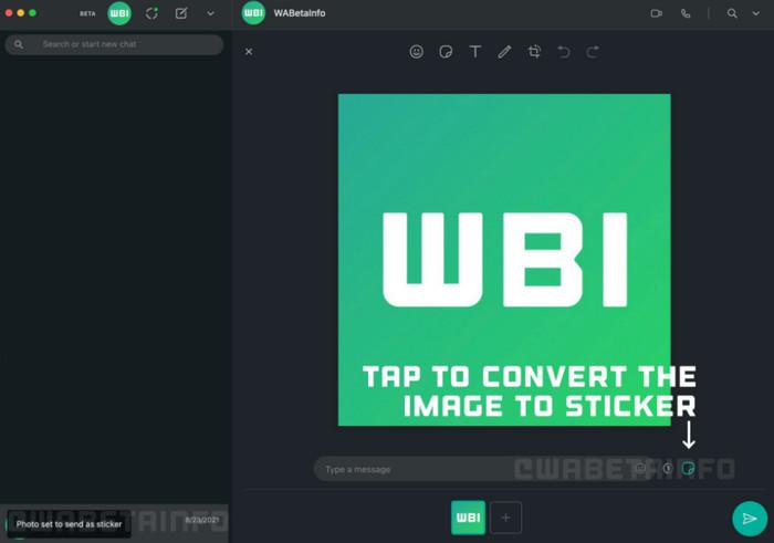 WhatsApp Web edit stiker