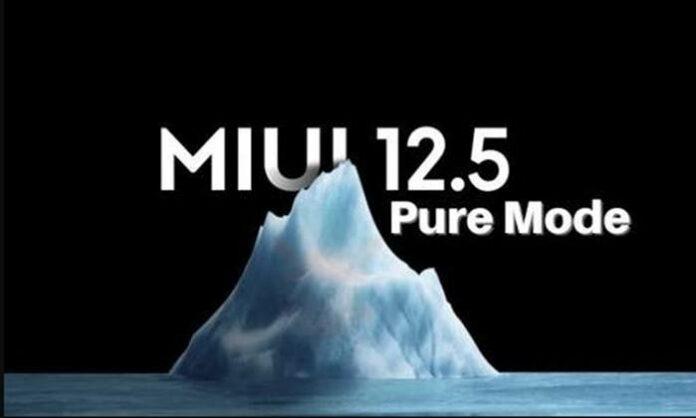 Update MIUI 12.5 Pure Mode