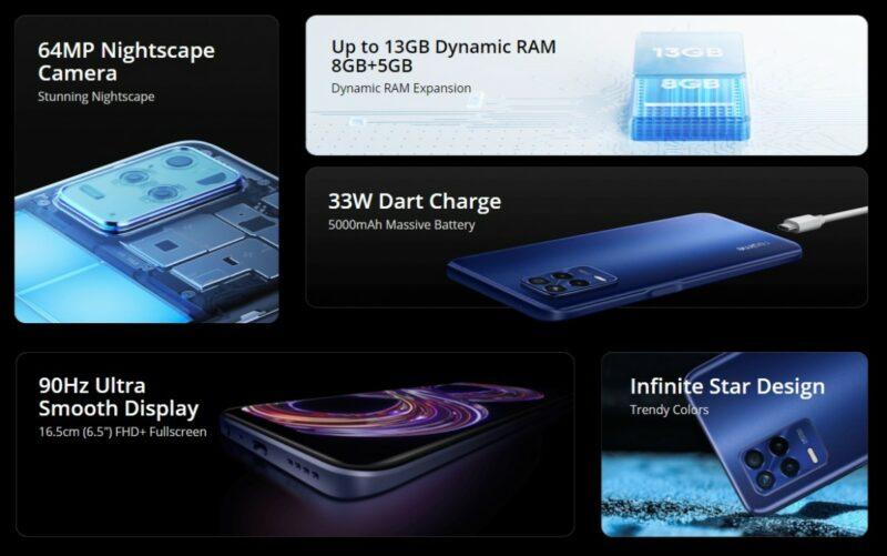 Spesifikasi Harga Realme 8s 5G