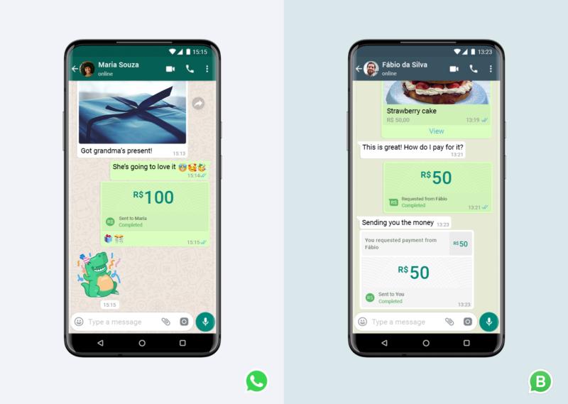 Transfer uang WhatsApp