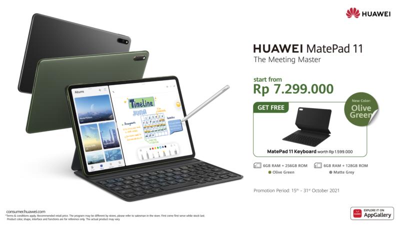 Harga Huawei MatePad 11 Olive Green 256GB