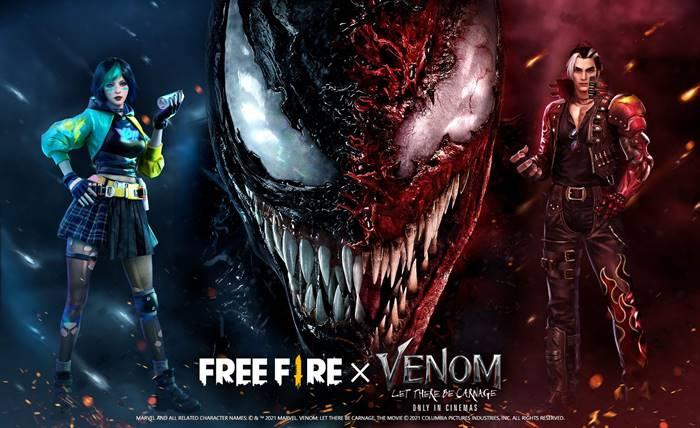 Sudah Rilis! Begini Cara Dapat Item Eksklusif Free Fire x Venom