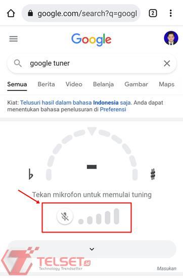 Cara stem gitar Android