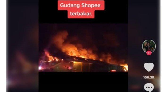 Gudang Shopee Terbakar
