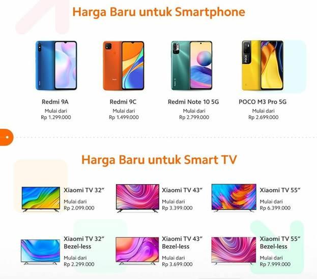 Harga HP Xiaomi Naik