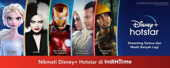 Langganan Disney+ Hotstar di IndiHome Mulai Rp 29 Ribuan