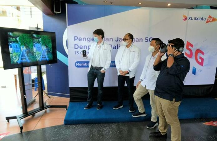 Jaringan internet 5G XL Axiata di Bali