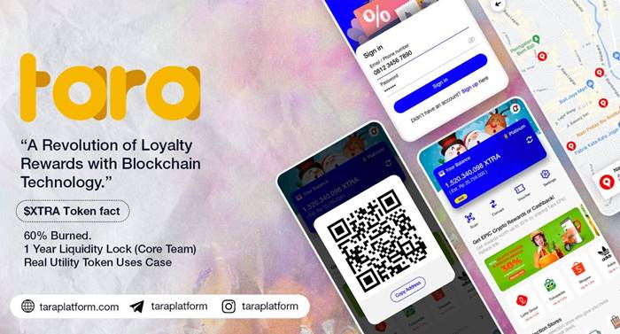 tara platform mata uang kripto loyalty reward